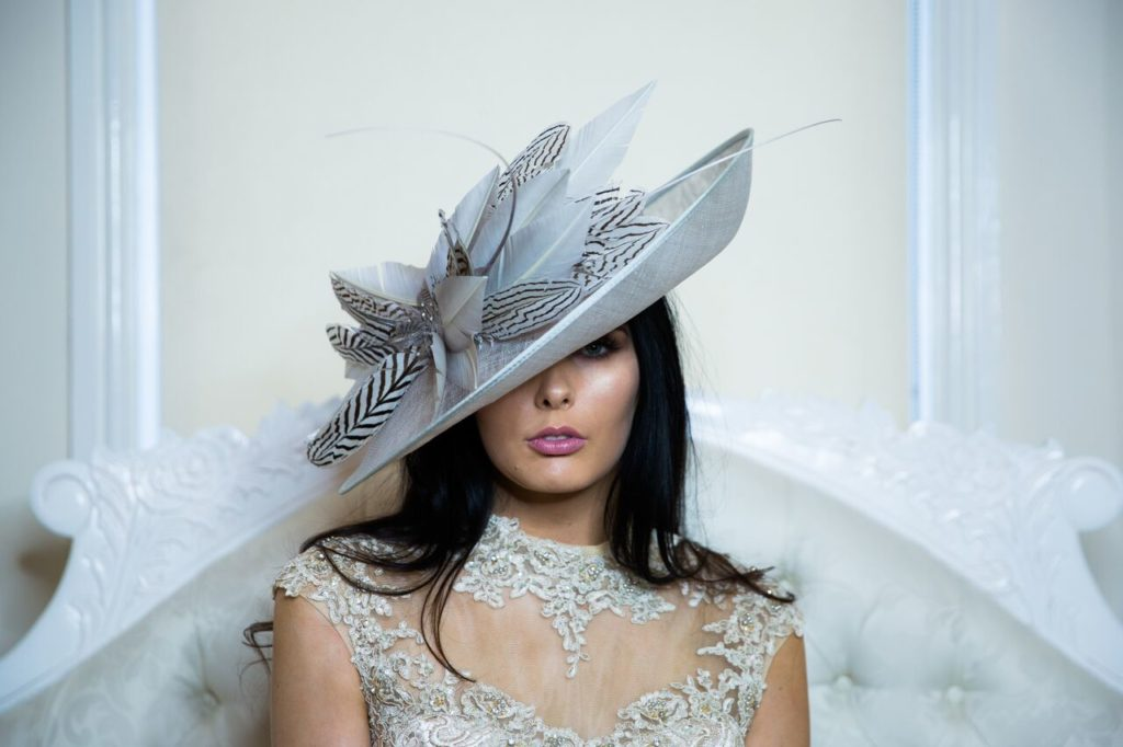 designer wedding hats